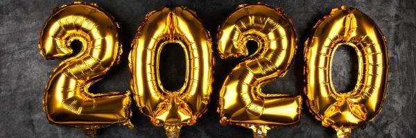 Gold 2020 Balloons