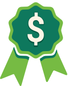 Illustration Of Green Ribbon With Dollar Sign